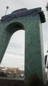 Sculpture named Cruising San Mateo.
