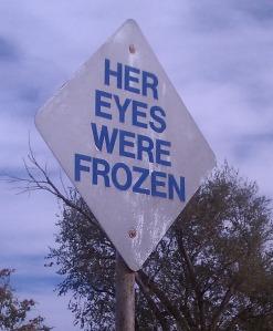 Dynamite Museum piece, Her Eyes Were Frozen.