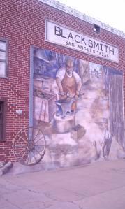 The village blacksmith at work.