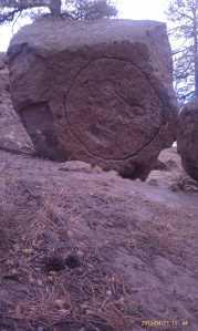 Big art on a big boulder.