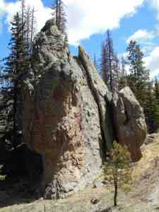 A natural tower of rock.