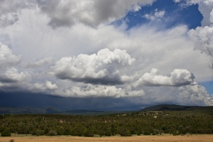 Scenery of the Pecos National Monument.