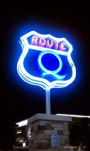 Q neon at ABQ Uptown.