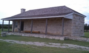 Old guard house and jail for prisoners.