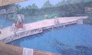 Fishing from the bridge.