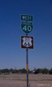 Road sign for Old Route 66.