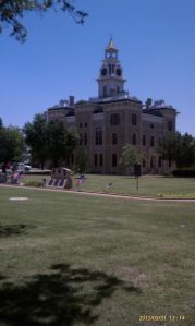 A courthouse on the square.