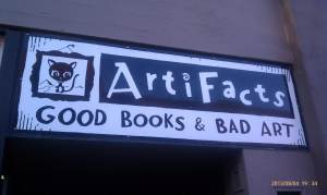 Claims good books and bad art.