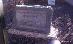 Robert C. Allison grave and marker.