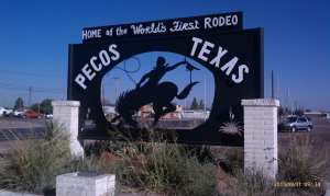 The World's first rodeo was held here.