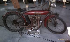 An early motor bike.