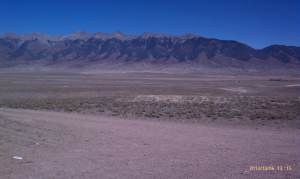 Mountains border the San Luis Valley.