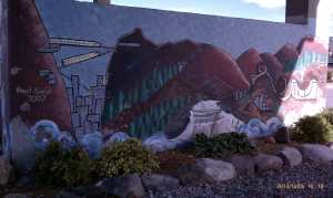 Part II of the River Station Mural Project.