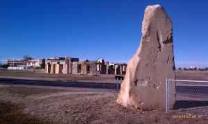 The heel stone of the Stonehenge replica.