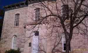 The old jail house of Burnet County.