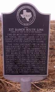 Historic marker for the south XIT boundary.