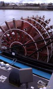 A big paddle wheel for a big river boat.