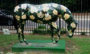 One of many painted horses.