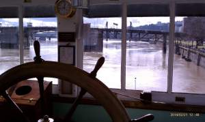The Wheelhouse offers a grand view of the Willamette River.