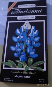 The seventh wildflowers mural features bluebonnets.