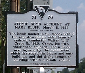 An atomic bomb accident.