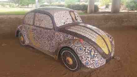 A VW bug never looked so good.