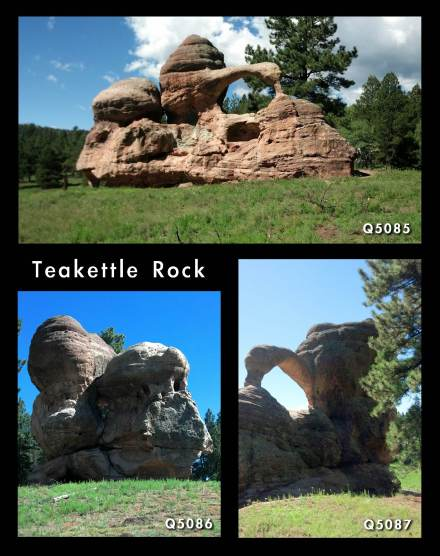 Teakettle Rock from three different sides.