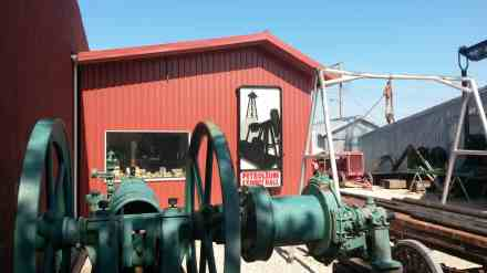 Petroleum history outside.