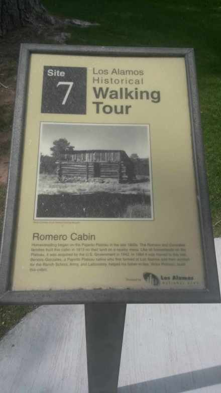 Site #7 on the walking tour, the Romero cabin.