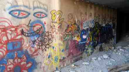 A mural by many artists.