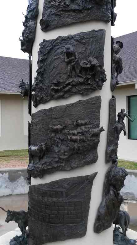 A time line wrapped around this column.