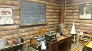 A one room school house.