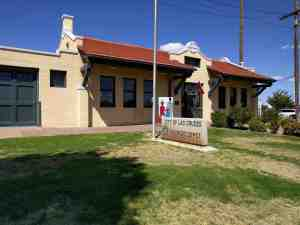 The Las Cruces Railroad Depot.
