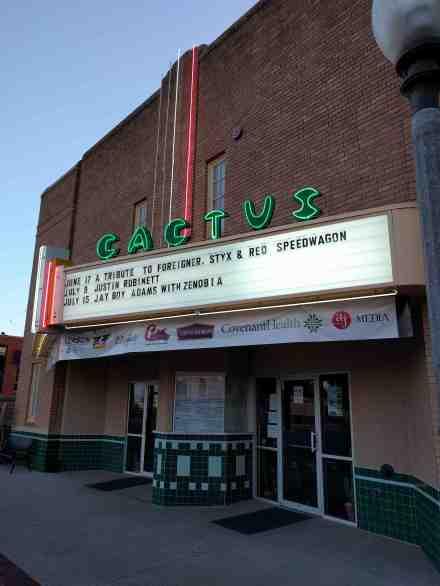 The historic Cactus Theater.