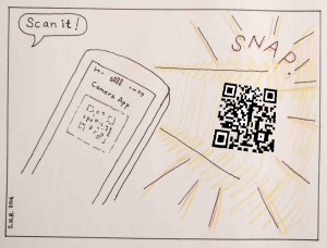 What will the QR code reveal?