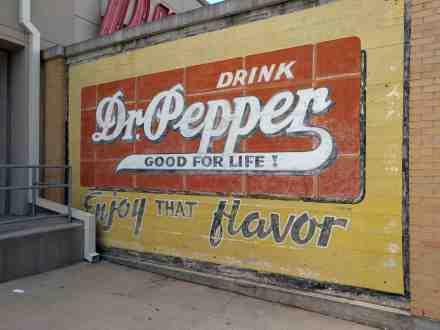 An old Dr. Pepper advertisement.