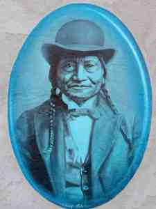 The Chief painted in blue.